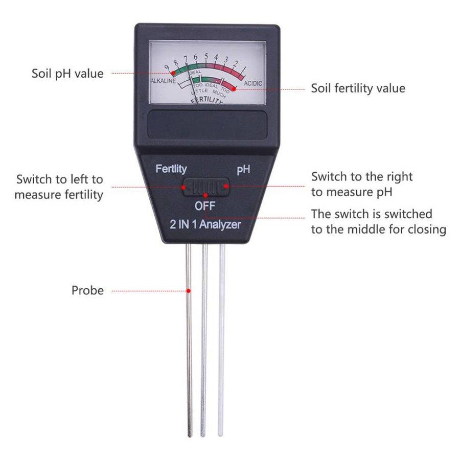 PH Grond meter + Fertiliteitsmeter