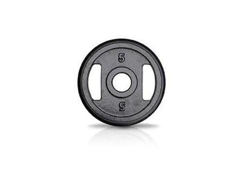 5kg schijf ijzer met rubberen ring met handgrepen 50mm