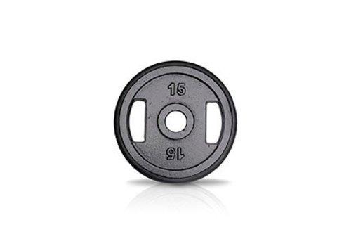 15kg schijf ijzer met rubberen ring met handgrepen 50mm