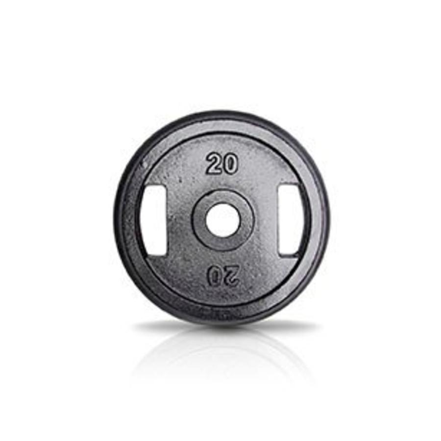 20kg schijf ijzer met rubberen ring met handgrepen 50mm