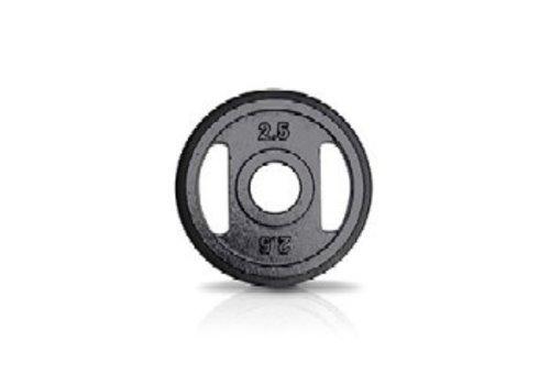 2,5kg schijf ijzer met rubberen ring met handgrepen  50mm