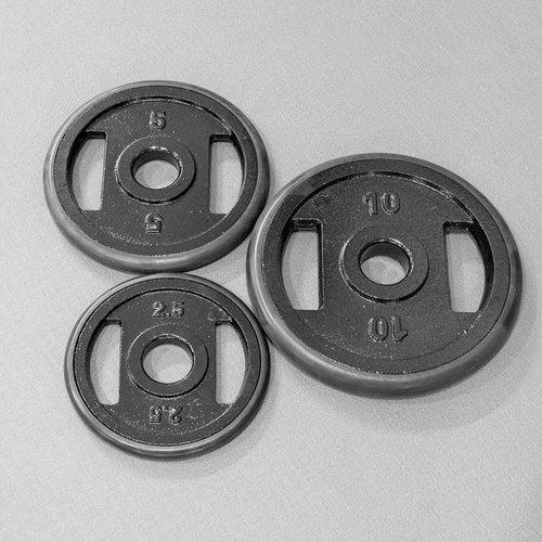 IJzeren schijven met rubberen ring