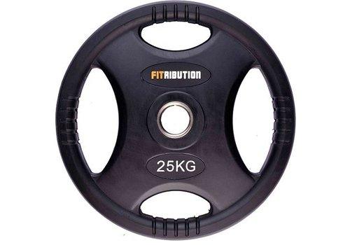 25kg schijf HQ rubber met handgrepen 50mm