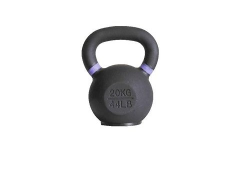 20kg kettlebell met gekleurde ring en rubberen voet
