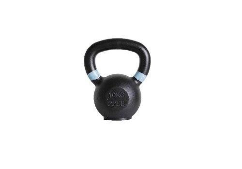 10kg kettlebell met gekleurde ring en rubberen voet