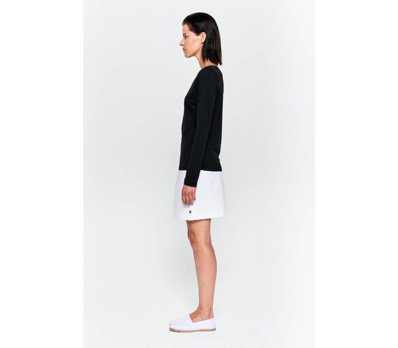 Basic Langarm-Shirt aus Bio-Baumwolle grau