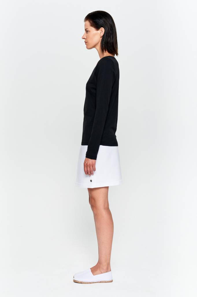 Basic long sleeve shirt made from organic cotton gray