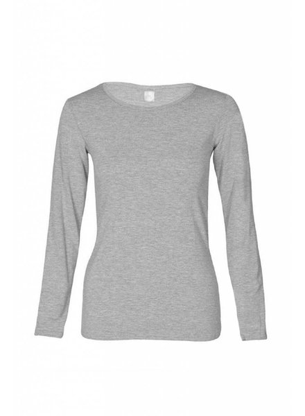 Basic long sleeve shirt made from organic cotton gray