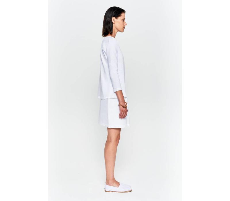 Basic Shirt 3/4 Arm aus Bio-Baumwolle - Weiß