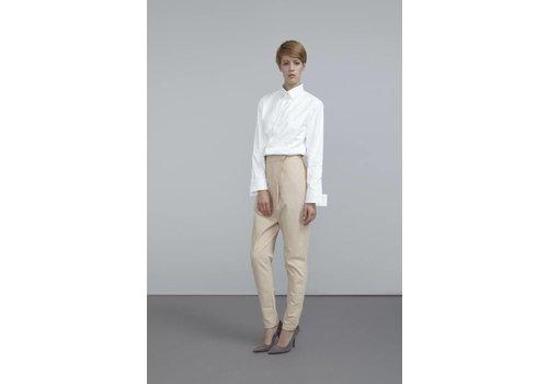 Hose mit Front-Falten aus Bio-Baumwoll-Flanell