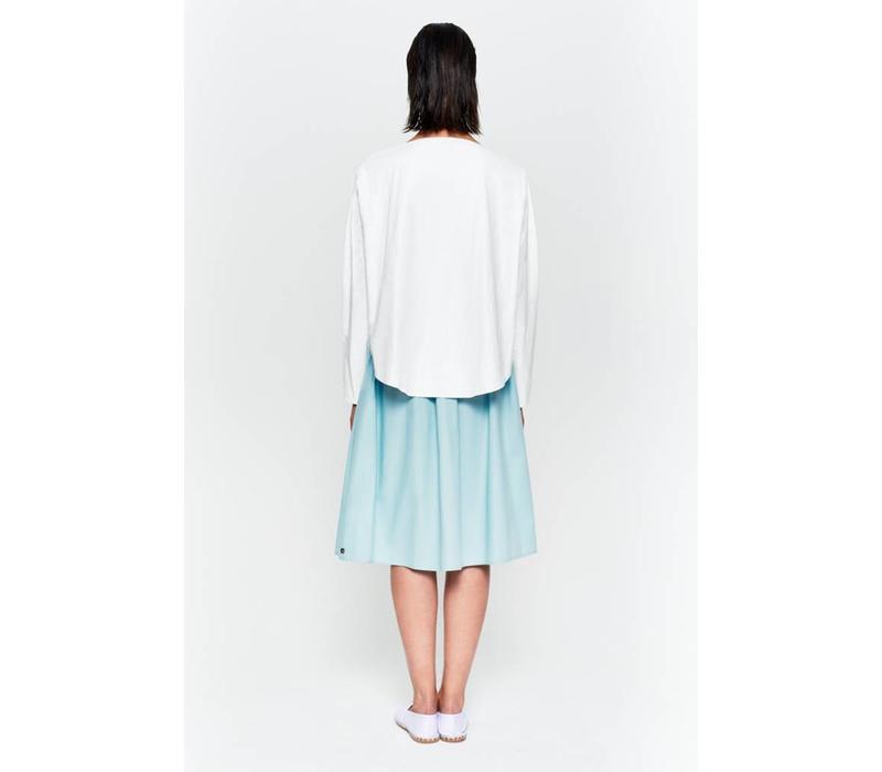 Shirt mit rundem Saum aus Bio-Baumwolle weiß