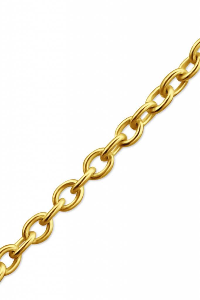 Zarte Halskette aus 925er Sterling Silber - Gold doubliert
