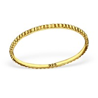 Relief-Ring aus 925er Sterling Silber - Gold doubliert