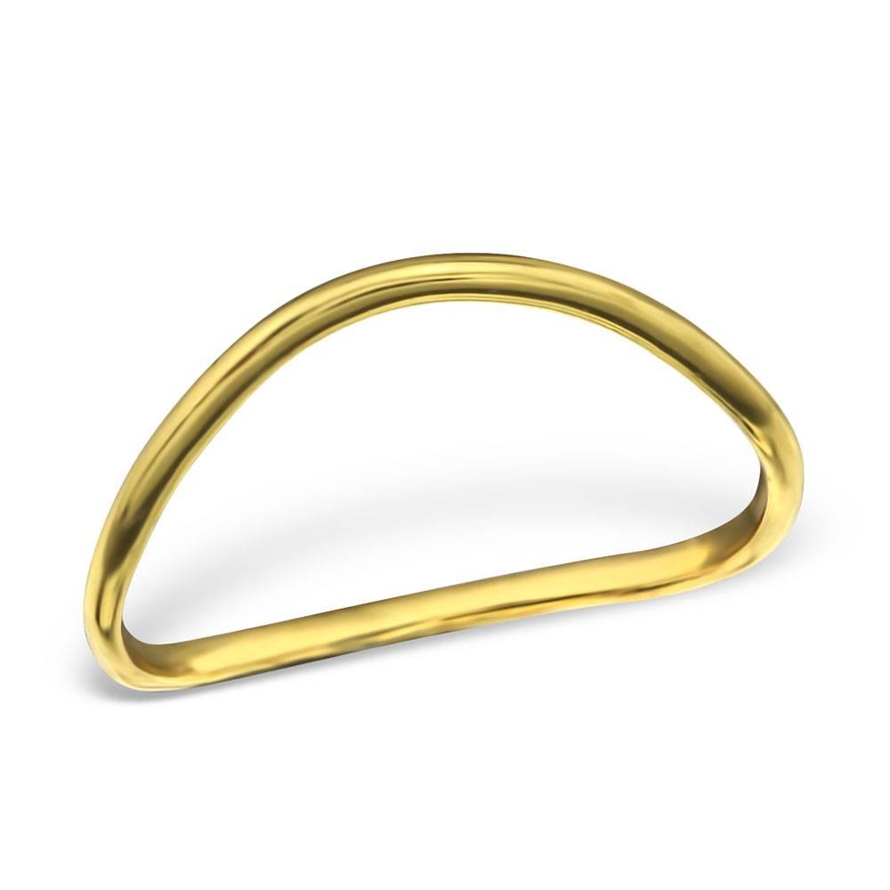 Asymmetrischer Ring aus 925er Sterling Silber - Gold doubliert