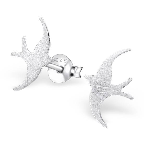 Filigraner Ohrstecker Vogel aus 925er Sterling Silber