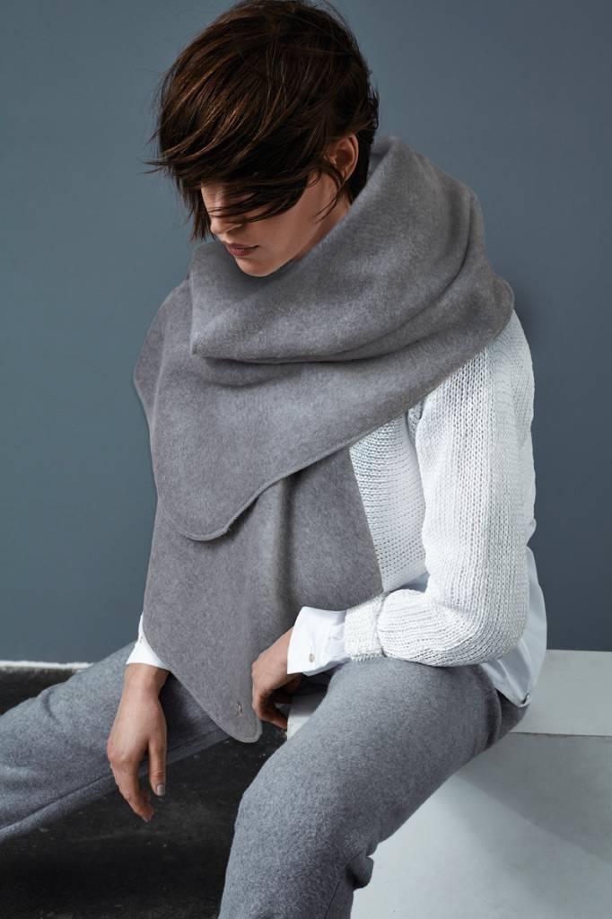 Schal aus Bio-Baumwoll-Fleece
