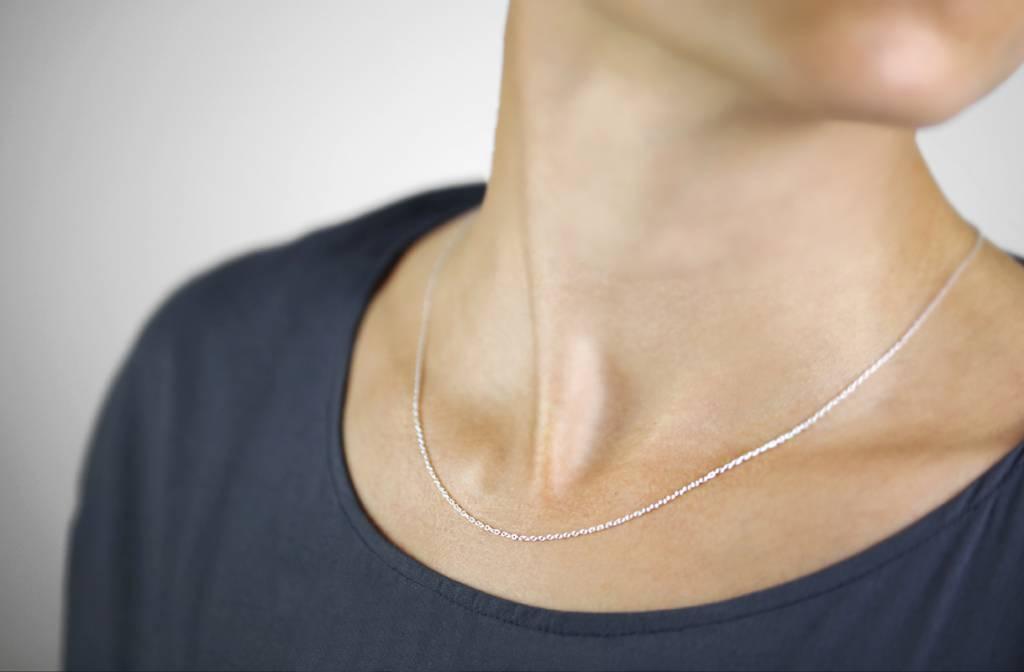Zarte Halskette aus 925er Sterling Silber - Roségold doubliert
