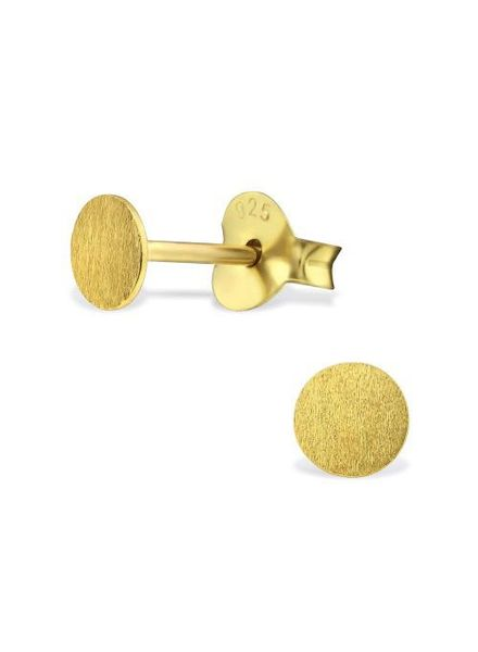 Delicate Studs approximately 925 sterling silver - Gold relined matt