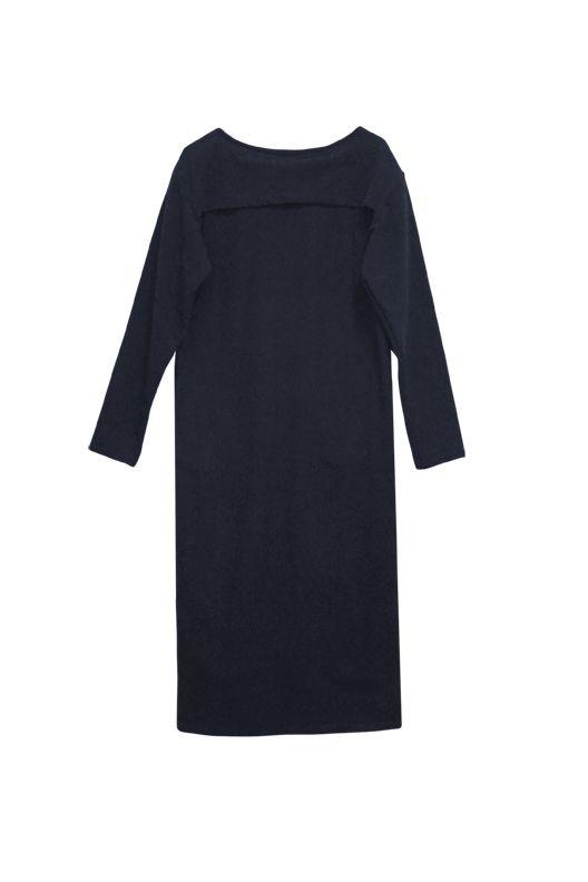 Kleid mit Passe aus Bio-Baumwoll-Flanell navy