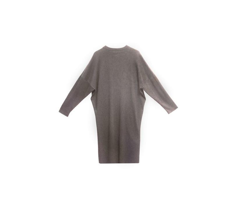 Oversize Kleid aus Bio-Jersey taupe