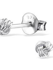 Zarter Ohrstecker Knoten aus 925er Sterling Silber