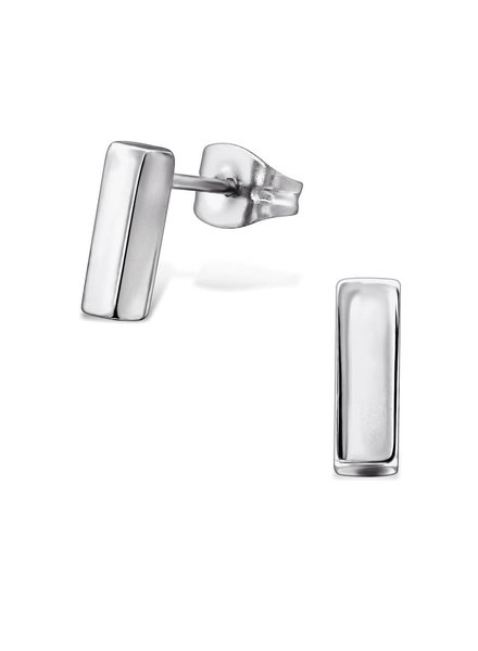 Fine ear plug made of stainless steel