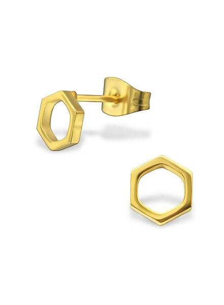 Delicate Earplug Polygon - Gold