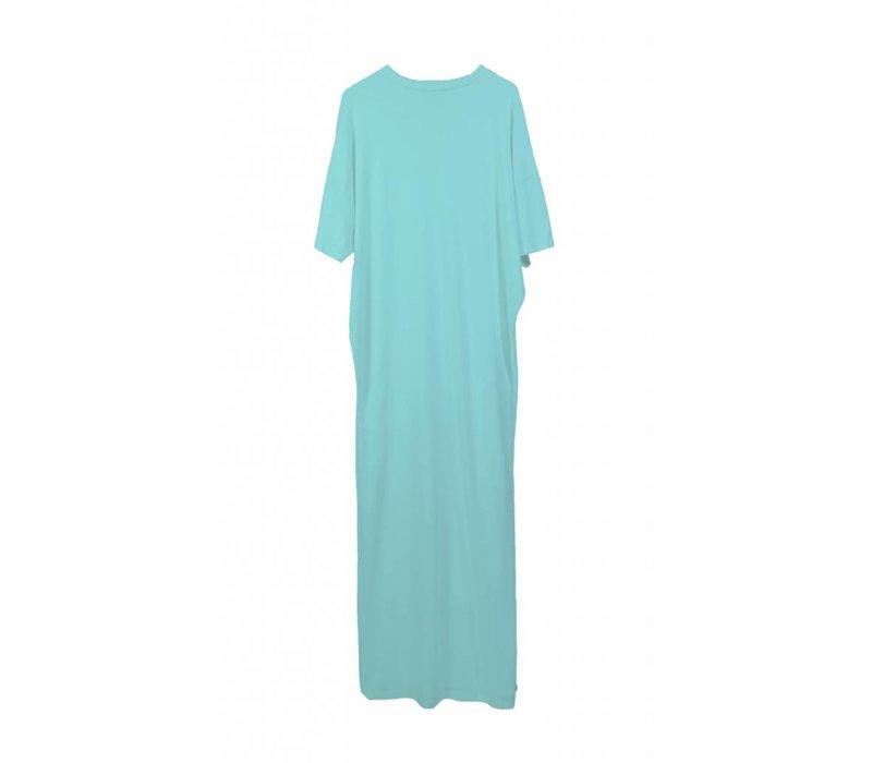 T-Shirt Kleid aus Bio-Baumwolle aqua