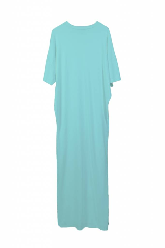T-shirt dress made of organic cotton aqua