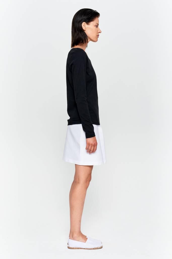 Basic Langarm-Shirt aus Bio-Baumwolle weiß