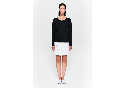 Basic long sleeve shirt made from organic cotton black