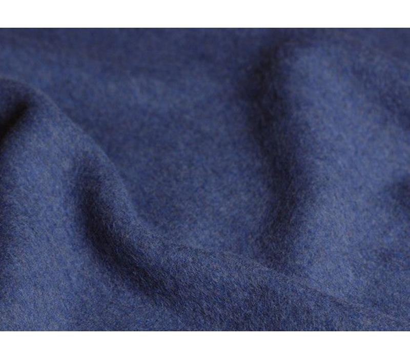 Rock aus Bio-Baumwoll-Fleece blau