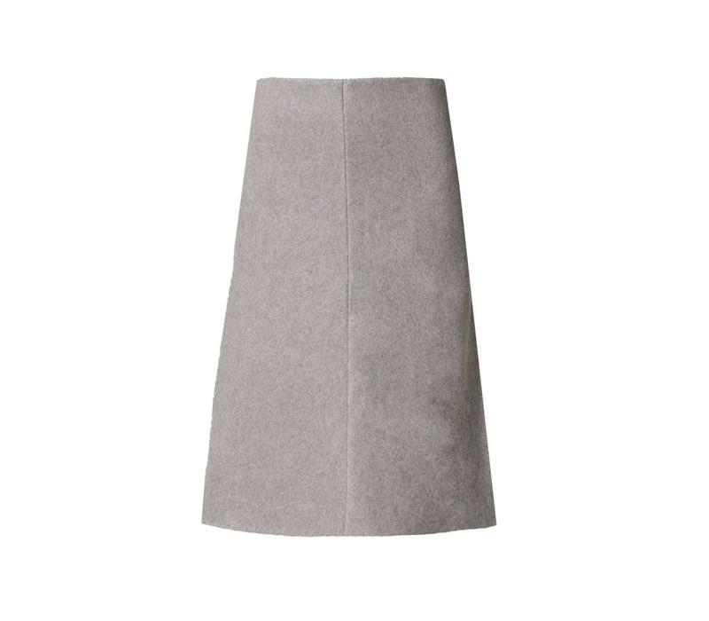 Rock aus Bio-Baumwoll-Fleece softgrau