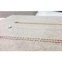 Feine Pulloverkette - 925 Sterling Silber  - gold
