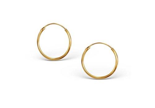 Kleine Creolen Ohrringe - 925er Sterling Silber -Gold