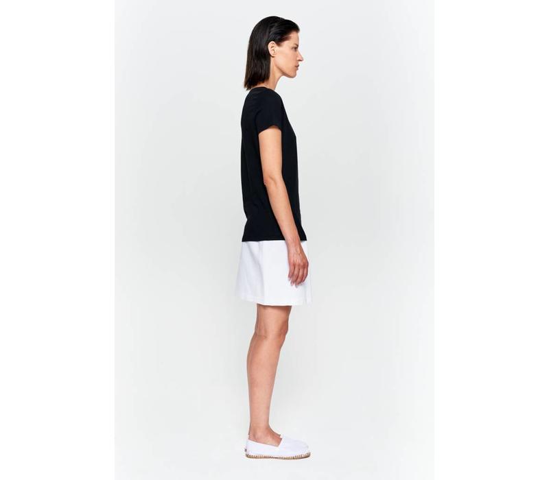 Basic T-Shirt V-Ausschnitt aus Bio-Baumwolle - Weiß