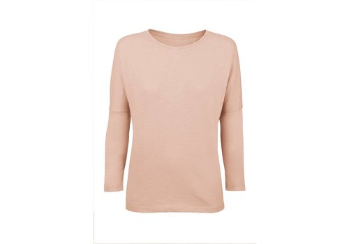 Basic Shirt 3/4 Arm aus Bio-Baumwolle- Nude