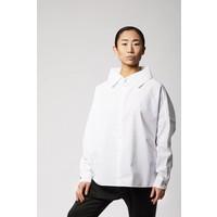 Statement Bluse aus Bio-Baumwolle - Weiß