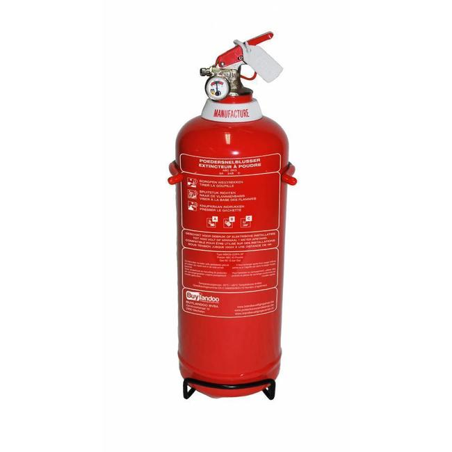 Poederbrandblusser voor voertuigen 2kg met BENOR V-label (ABC) permanente druk