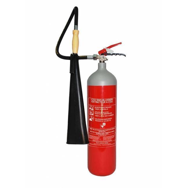 Mobiak CO2-brandblusser 5kg met BENOR-label (B) permanente druk