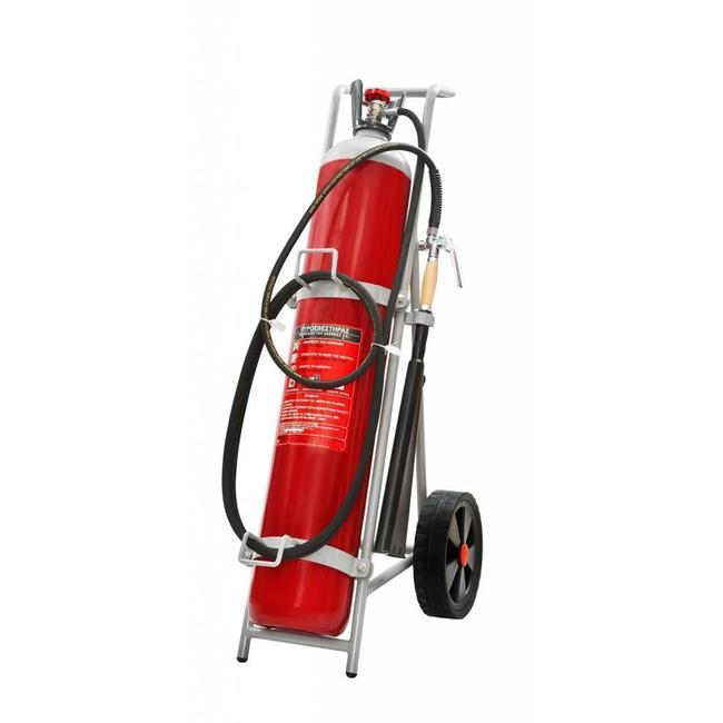 Brandbeveiligingshop Bluswagen CO2 30kg (B) permanente druk