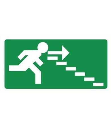 Pikt-o-Norm Veiligheidspictogram nooduitgang rechts trappen PVC