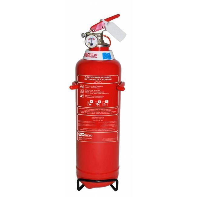 Brandbeveiligingshop Poederbrandblusser voor voertuigen 1kg met BENOR V-label (ABC) permanente druk