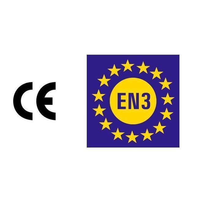 Brandbeveiligingshop Schuimbrandblusser 9l ECO/BIO met BENOR-label (AB) permanente druk