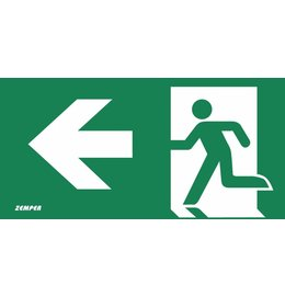 Zemper Diana Flat pictogram nooduitgang links