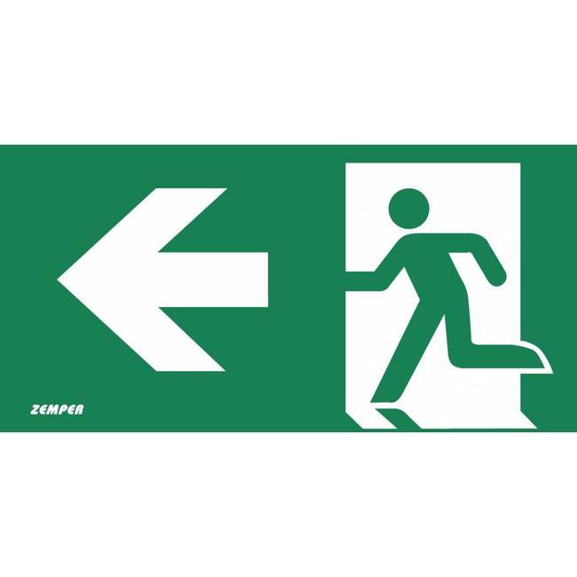 Zemper Zemper Diana Flat pictogram nooduitgang links