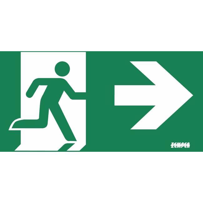 Zemper Zemper Diana Flat pictogram nooduitgang rechts