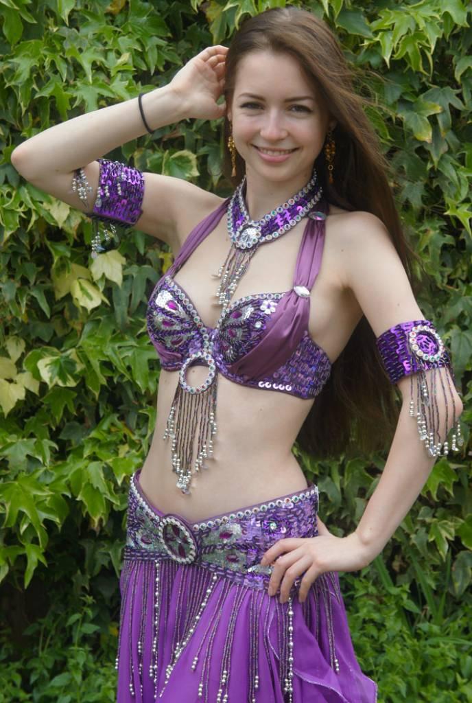 Schmuck Lila für Kostüm Aisha
