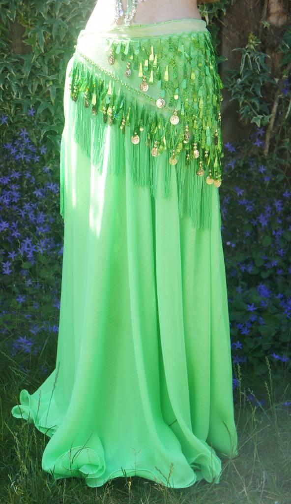 Hüfttuch mit schöne Pailletten in grün