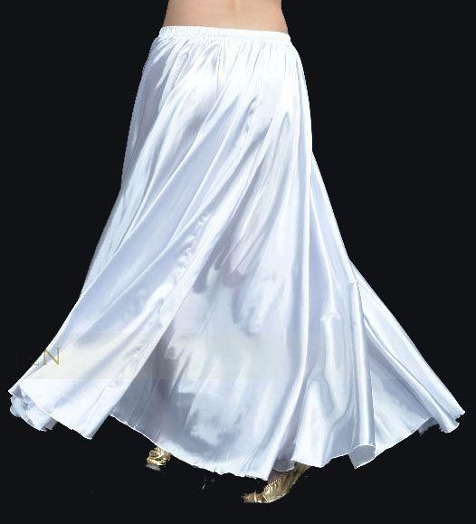Satinrock in weiß